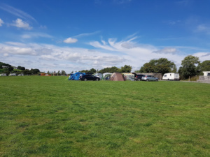 Campsite set back from road